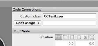 CocosBuilder でカスタムクラスを指定する